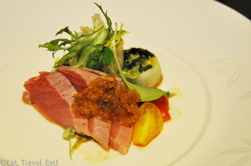 Nobu (Caesars Palace, Nobu Hotel)- Las Vegas, NV: Nobu Signature Tuna with Sesame Ginger Sauce, Handrolls
