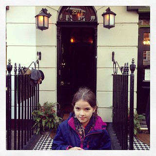 TV has sparked an interest in a literary character for Josie. Our #changethestory day ended with a trip to the real 221b #sherlock