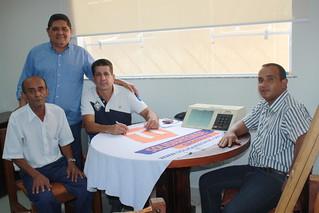 David Martins, Paçoca e Fábio Pereira com o visitante Reginaldo Santos