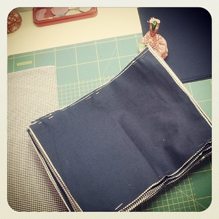 Busy sewing book covers ...