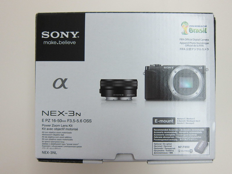 Sony NEX-3N - Box Top