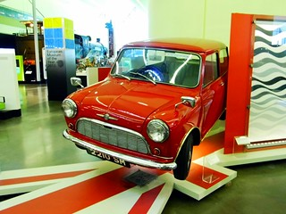 Glasgow (View of a 1960s Mini,on display in the Riverside Museum)