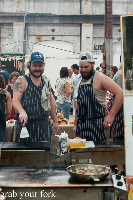 Chefs from Mary's Newtown at the Sunday Marketplace, Rootstock Sydney 2014