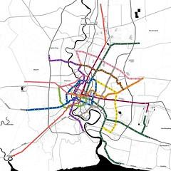 Future Bangkok Metropolitan Rapid Transit (to scale)