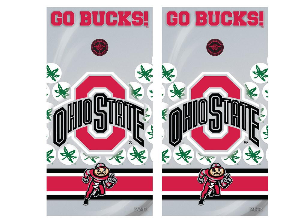 Ohio State Cornhole Game Decal Set