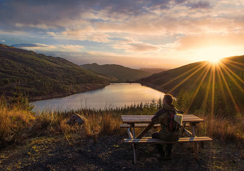 Watching the Sun Set Over Loch Tarsan