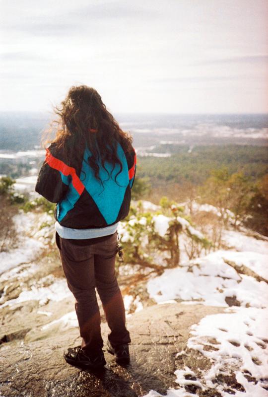 climbing blue hills