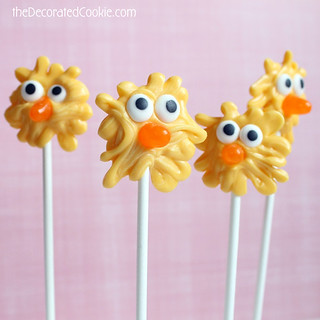 chick candy pops for easter