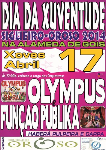 Oroso 2014 - Día da Xuventude en Sigüeiro - cartel