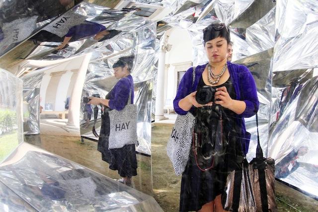 Milan Salone del Mobile 2014 mirror selfie