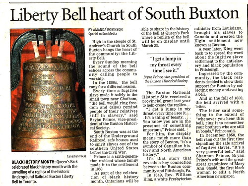 2007 Buxton Liberty Bell Article