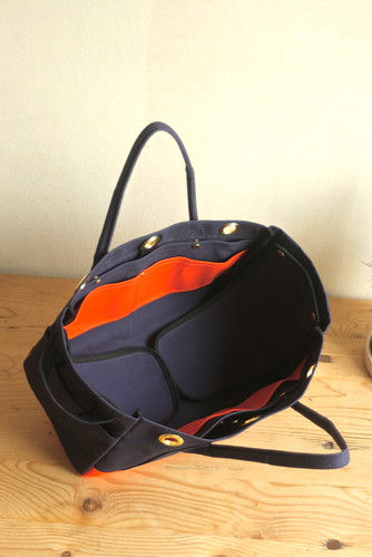 BAKERY BAG mini (col.navy_orange_black_brass)