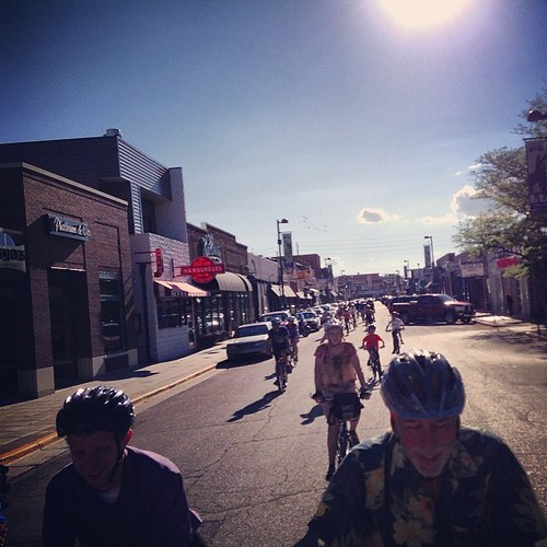 Manhattan has a Bike Progressive Dinner. Love this town. #mhk #manhattanks