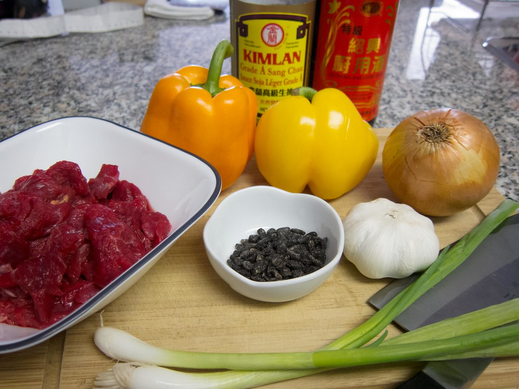 Black Bean Beef and Pepper Stir Fry