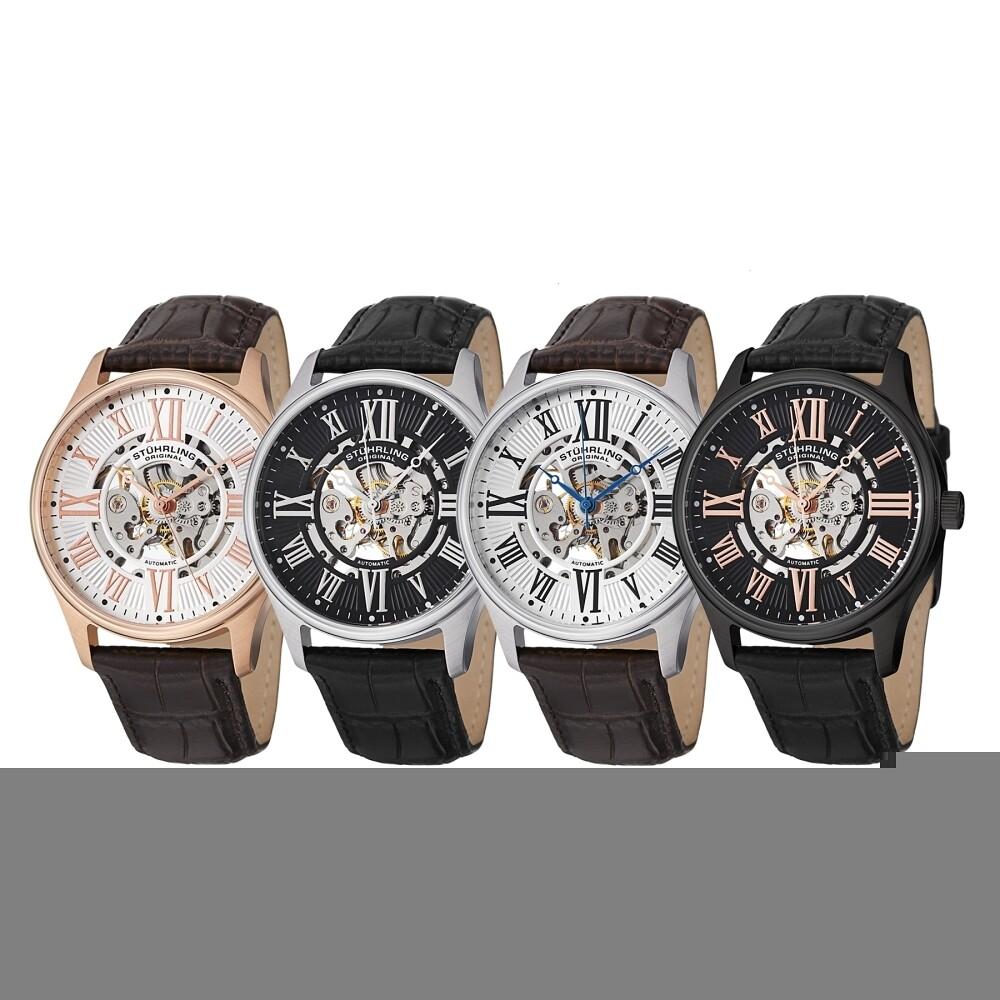 stuhrling original men 039 s 747 atrium automatic skeleton watch stuhrling original men s 747 atrium automatic skeleton watch