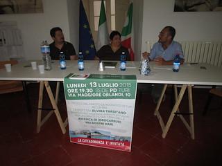 da sinistra Domenico Scagliusi, Elvira Tarsitano, Giuseppe Gravinese