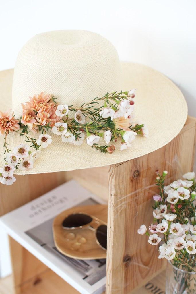 Diy Fresh Flower Hat A Pair Amp A Spare