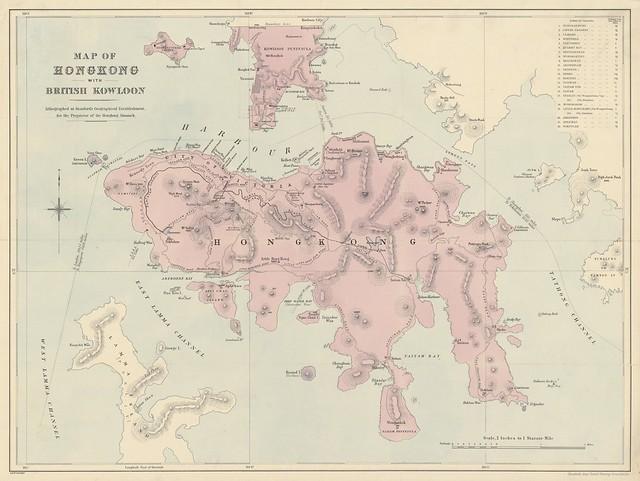 Hong Kong Map (1881)'