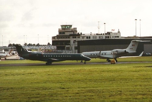 BIRMINGHAM 10 OCT 2000 GREEK AIR FORCE EMBRAER E135 145-209 AND U.S. AIR FORCEGULFSTREAM 5 99-0402