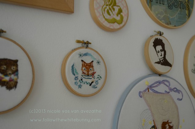 tiny sailor fox on my wall