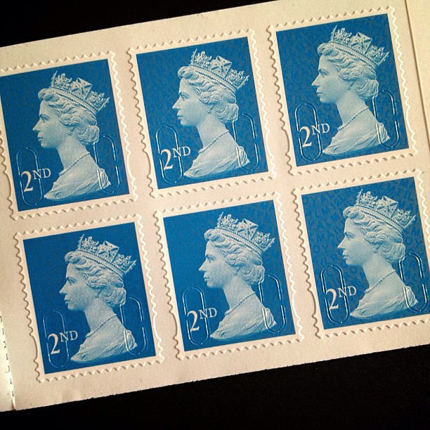 Day 6: Blue #psjune #postagestamp #postalsociety #british #uk #blue #queen #head  #scavengerhunt #challenge