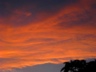 A Fiery Sunset Sky (6-6-13) Photo #1