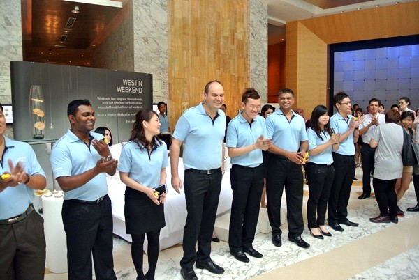 Department Heads of The Westin KL performing the Westin Weekend welcome ritual