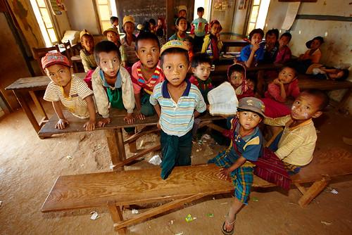 Burmese children at school