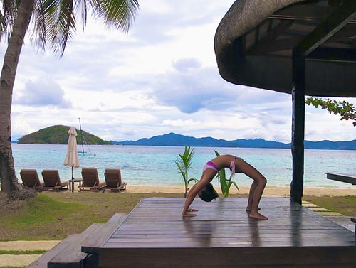 Two Seasons Coron- yoga on deck