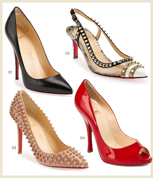 Louboutin collage