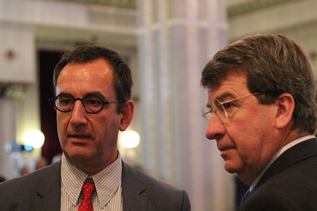 Arnaud Nourry (Hachette Livres) et Xavier Darcos