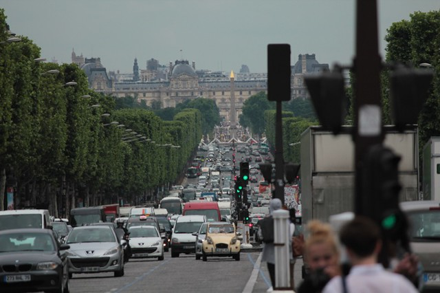 champs elysees: vista