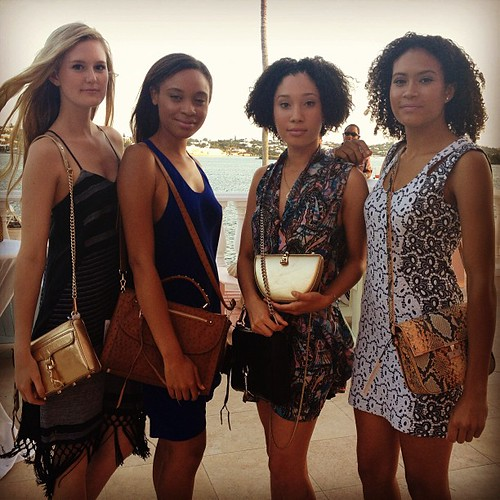 Our models dressed to kill in @rebeccaminkoff #cityfashionfestival #evolution #fashion #lifeinevents