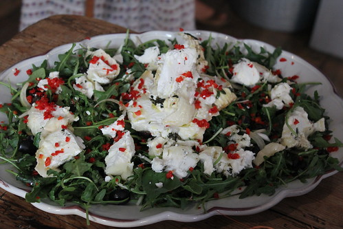 Jamie Oliver's herb salad with goat cheese