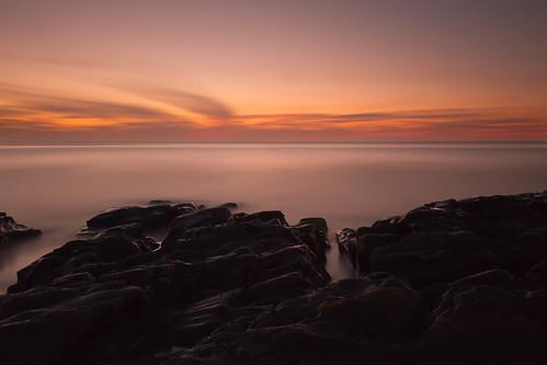 ocean longexposure sunset sea sky seascape beach wales landscape evening rocks cloudy rocky le tresaith bw110nd30