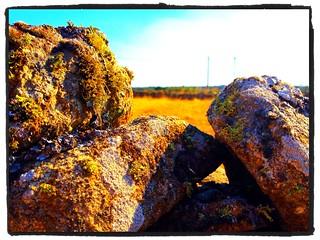 Piedras típicas de Villar del Buey, sin cemento. Actualmente se construye con cemento, qué curioso!