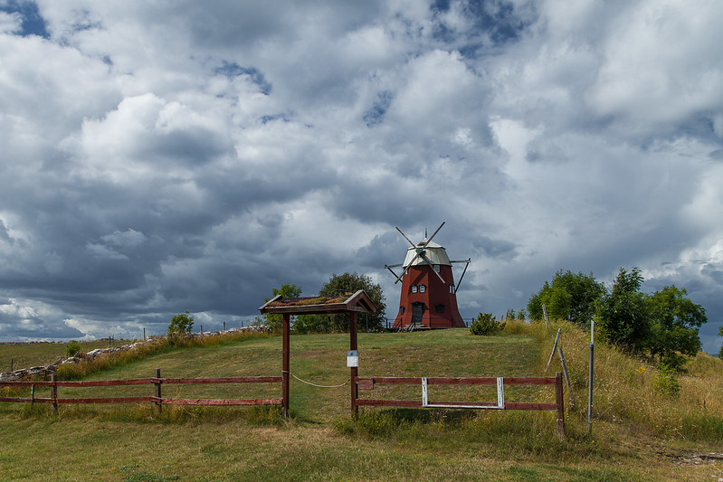 Photo:Ile öland suède moulin à vent - Island öland sweden windmill - photo picture image photography By:SuperCar-RoadTrip.fr