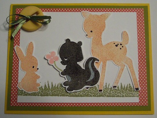 Woodland Critters Silhouette Card