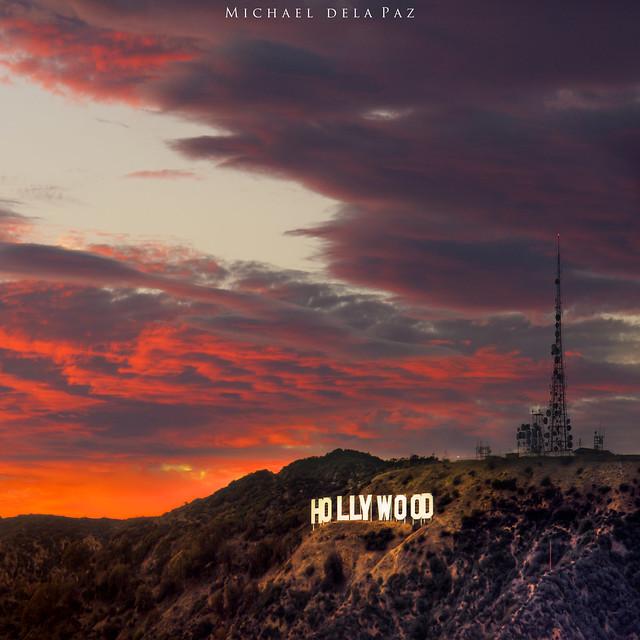 Hollywood Hills Sunset Hollywood Sunset   Fli...