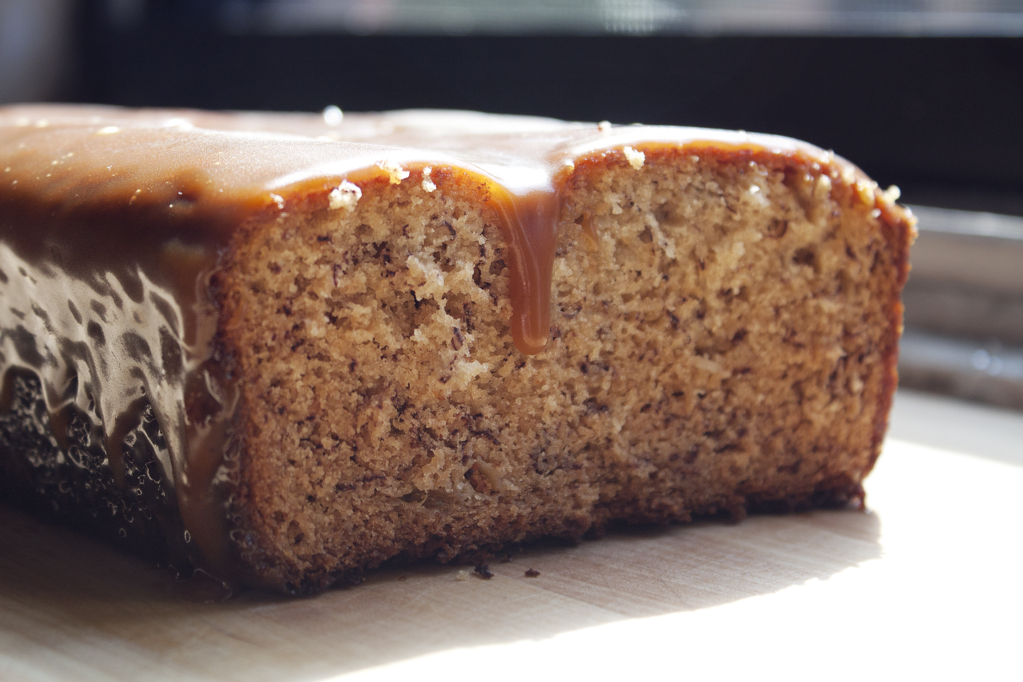 Banana Bread with Lemongrass Caramel