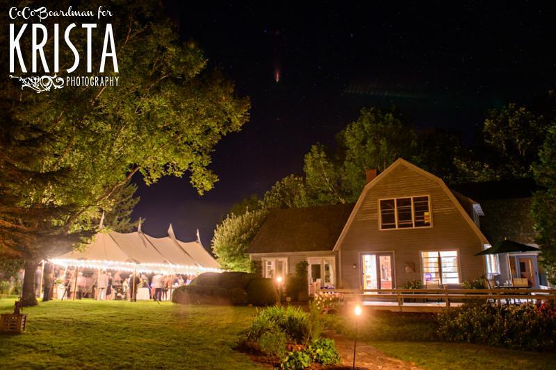 Artsy backyard Maine wedding