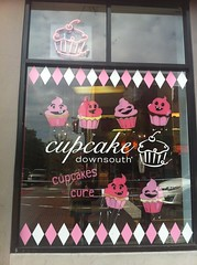 Cupcake art window at Cupcake, Charleston, South Carolina by Rachel from Cupcakes Take the Cake