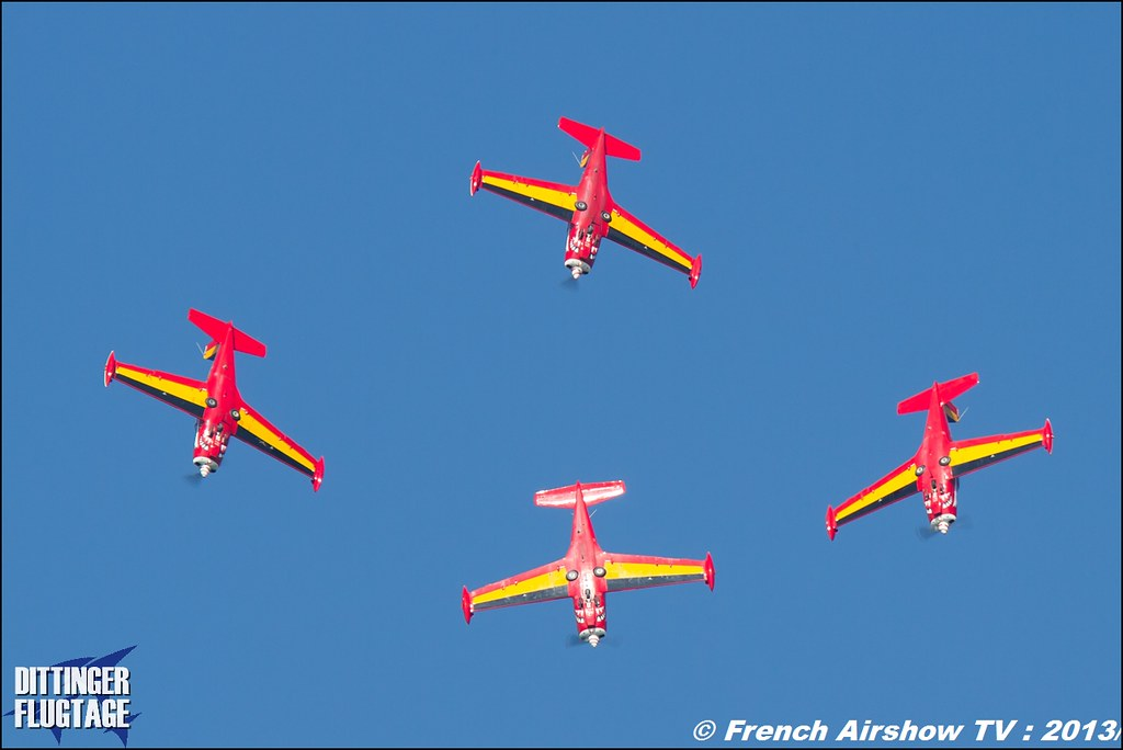 Patrouille Belge Red Devils at Dittinger Flugtage 2013