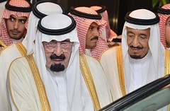 King Abdullah and younger brother Crown Prince Salman bin Abdulaziz al Saud
