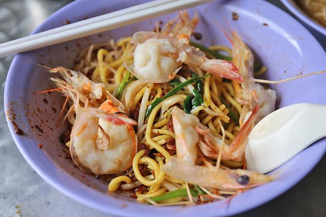 Dry prawn noodles