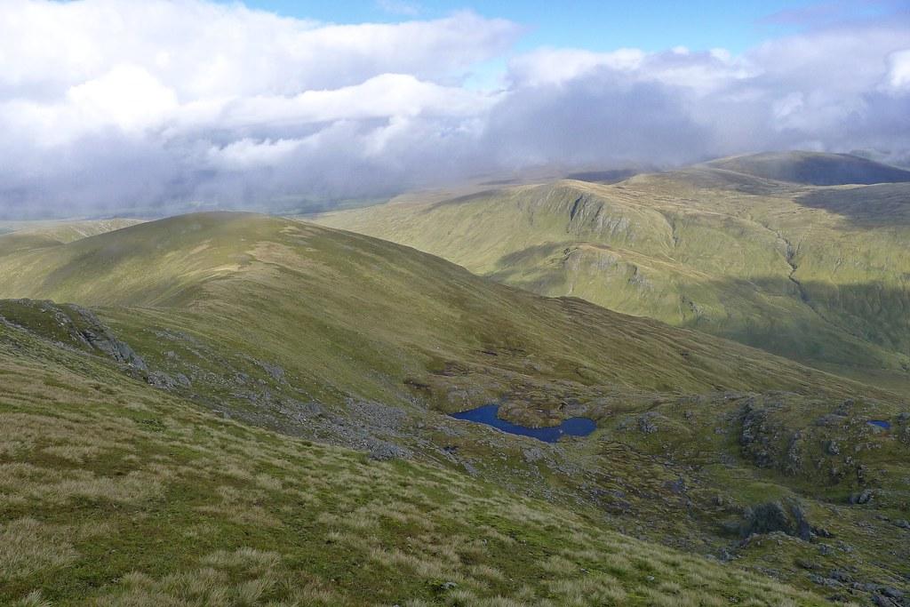 Looking into Coire an Lochain of Beinn a'Chreachain
