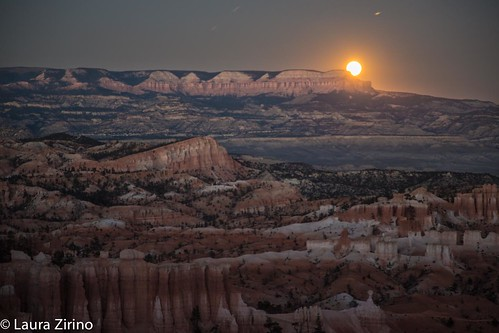 Harvest Moon over Bryce Canyon
