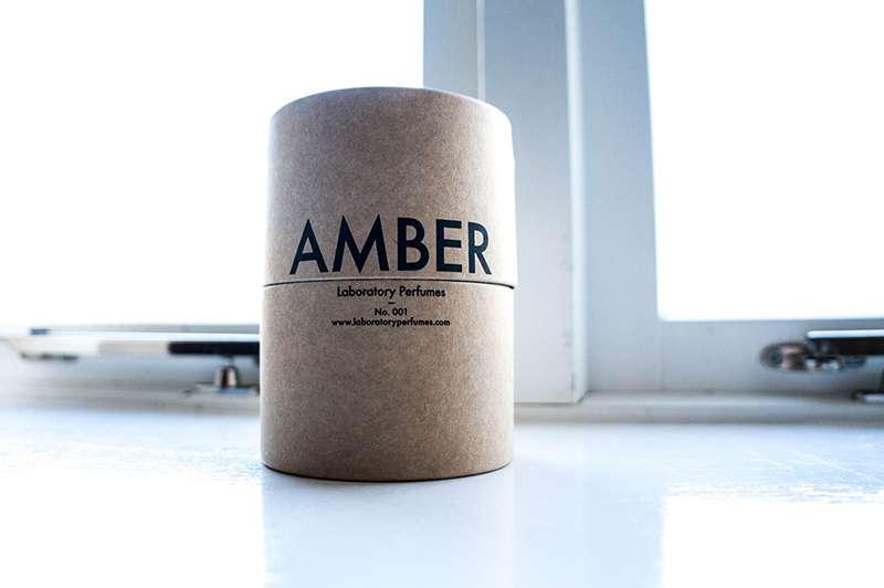 Laboratory Perfumes Amber Candle Packaging | www.latenightnonsense.com