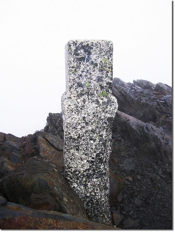 秀姑巒山二等三角點(#1691 Elev. 3825 m)