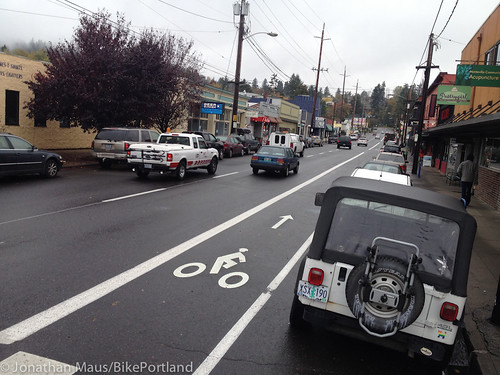 New bike lanes SE Stark-7